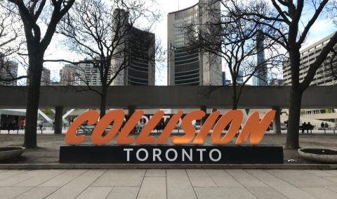 Photo of Collision Toronto Sign