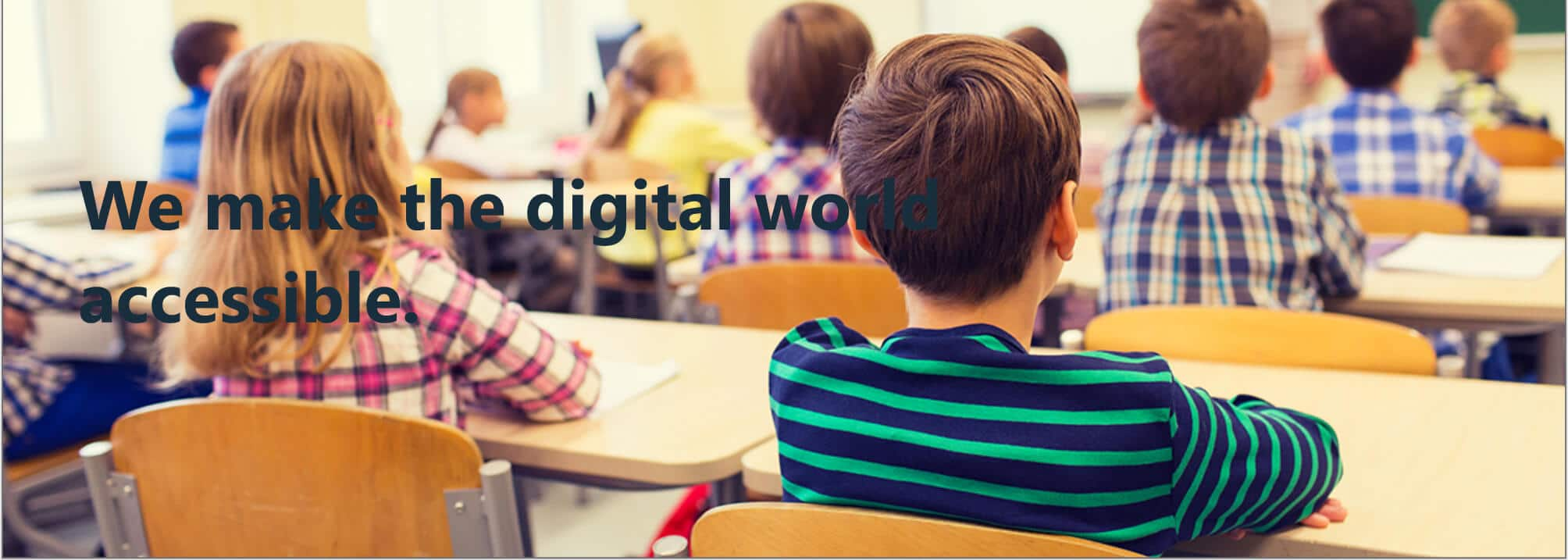 Kids in classroom with text that is hard to read