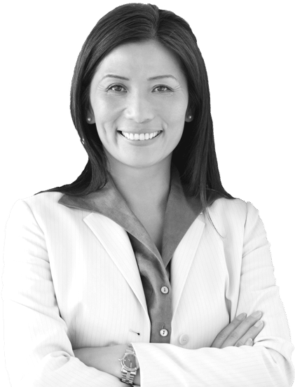 Photo of prominant women business suite smiling with arms crossed and looking at camera