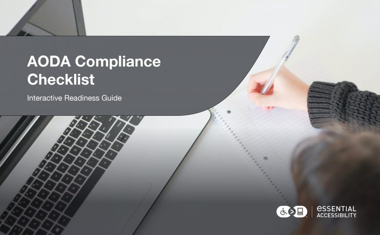 AODA Compliance Checklist Cover