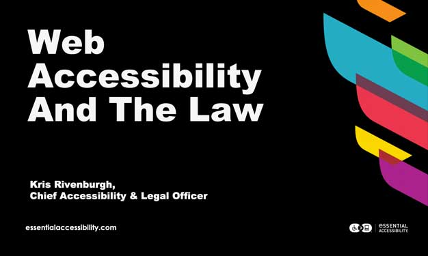 Web Accessibility and The Law
