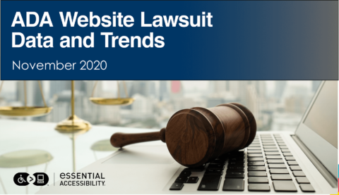 November 2020 ADA Website Lawsuit Data and Trends